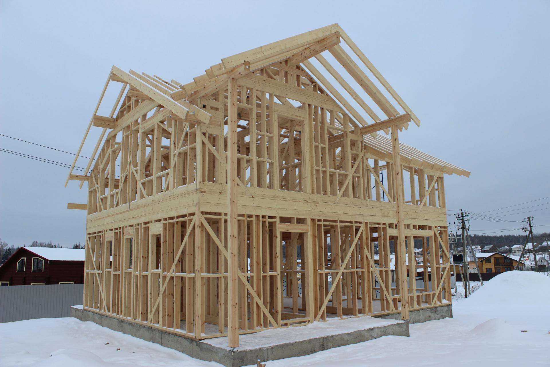 Строительство загородного дома в зимний период