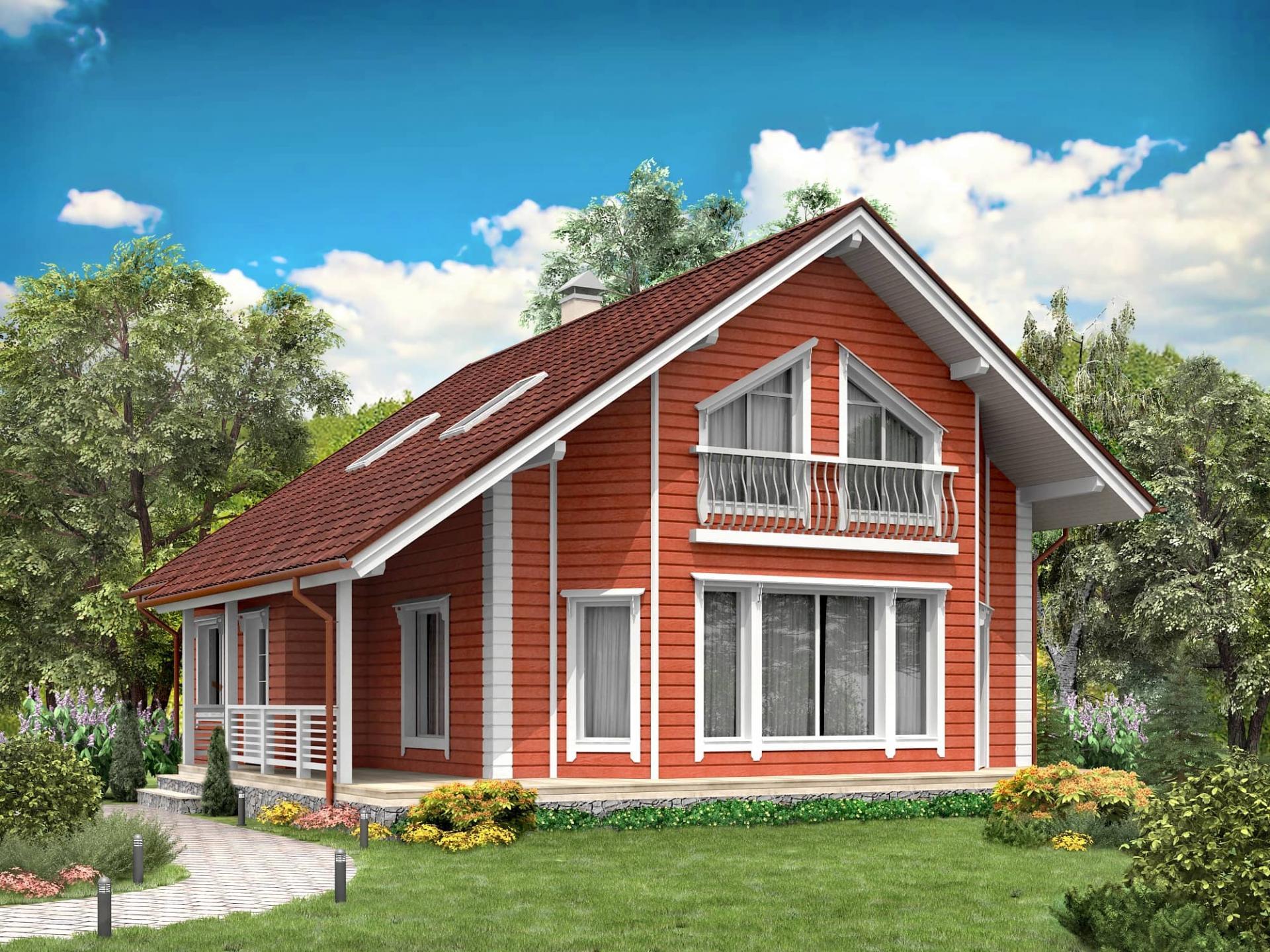 Дома из клееного бруса деревянные окна